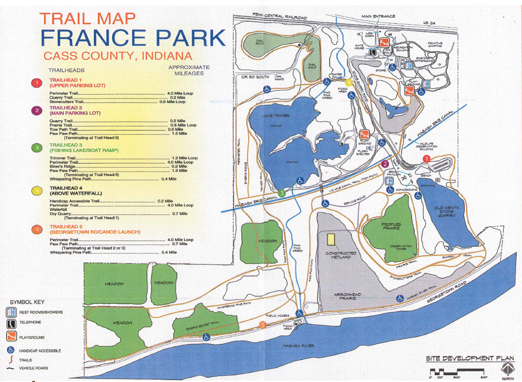Entire Trail Map in France Park